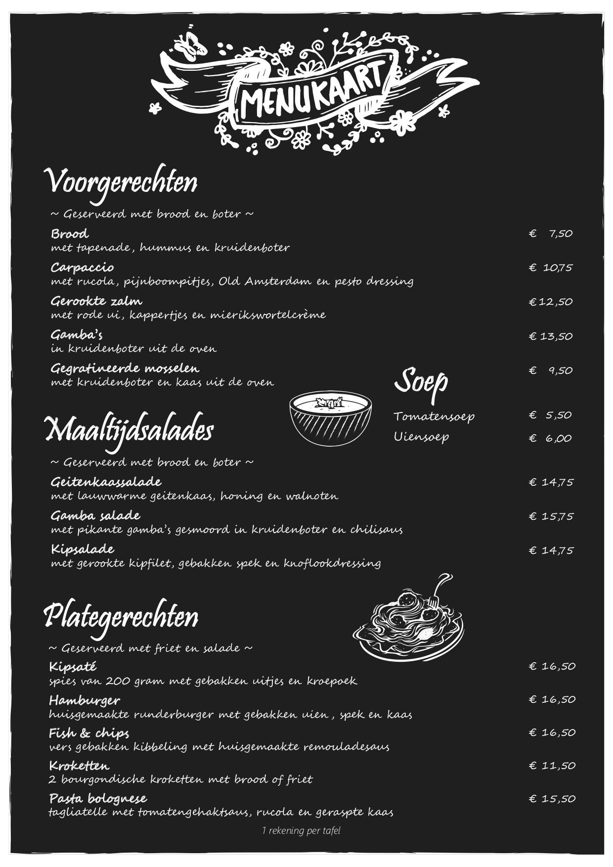 menukaart beau4 A